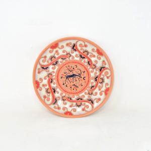 Piatto Tondo In Terracotta 100% Hand Made Rhodes Grecia 22cm