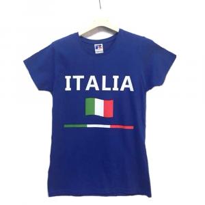Maglietta taglia S azzurra con scritta Italia