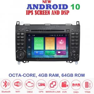 ANDROID 10 autoradio 2 DIN navigatore per Mercedes classe B W245 Classe A W169 B200/B150/B170/A180/A150 Mercedes Sprinter/Vito/Viano GPS DVD WI-FI Bluetooth MirrorLink