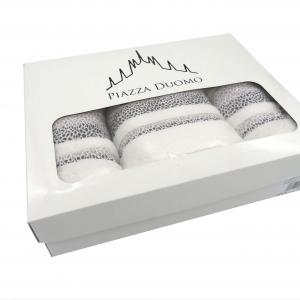 Spugne cotone 5 pezzi bianchi scatola regalo