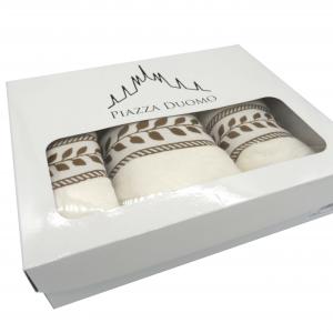 Spugne cotone 5 pezzi crema scatola regalo