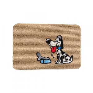Zerbino tappeto cane con osso 40x70 fuoriporta