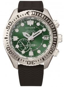 Citizen Promaster Satellite wave marine diver 200 mt. quadrante verde, supertitanio chiaro