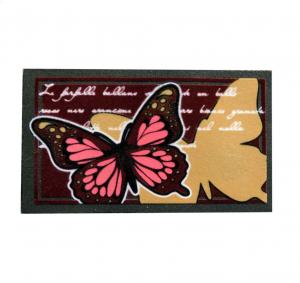 Tappeto zerbino 40x70 farfalla in materiale riciclato