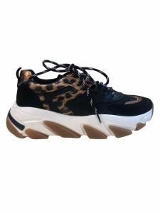 Sneakers nero/oro