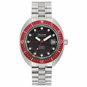 Bulova orologio Oceanographer, meccanico  41mm. (Lunetta rossa)
