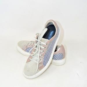 Shoes Woman Frau Gray A Rete N 39 / 40