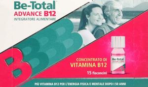 Be Total Advance B12 Integratore vitaminico per L'Energia fisica e mentale 15 flaconcini
