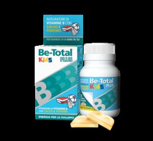 Be Total Kids Plus Integratore Vitaminico per Bambini-30 tavolette- Gusto Banana.