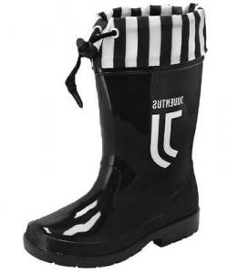 Stivali in Gomma Nuovo Logo Juventus Stivaletti da Pioggia