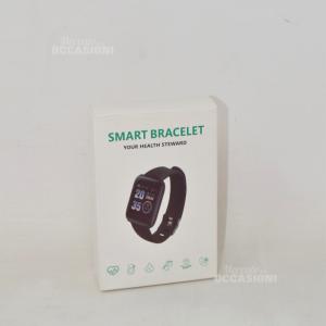 Orologio Smart Bracelet Nero Con Cinturino nero