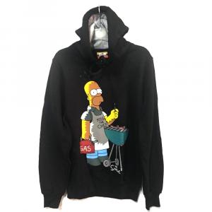 Felpa The Simpson taglia L con cappuccio nera