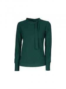 Maglia donna in tinta unita verde | Shop online moda invernale