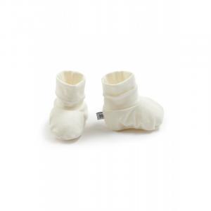 Scarpine babbucce neonato Pure Bamboom Panna