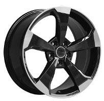 Cerchi in lega  2019 RS3  Dedica  AUDI  19''  Width 8   5x112  ET 45  CB 66.6    BLACK / POLISHED-2