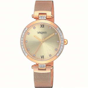 Vagary by Citizen orologio Flair, quadrante champagne, i.p.gold, cristalli