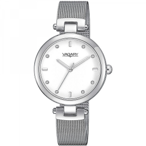 Vagary by Citizen orologio Flair, quadrante bianco, indici con cristalli