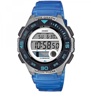 Casio Collection orologio digitale donna, blu e grigio