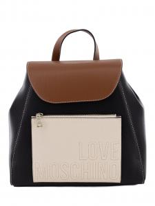 Zainetto Love Moschino JC4118PP1BLB100B Nero/Cuoio/Avorio