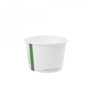 Ciotole asporto zuppe in cartoncino - 500ml serie green stripe