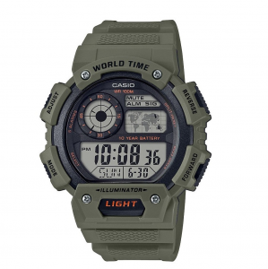 Casio Collection orologio digitale, verde militare