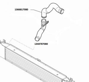 Manicotto inferiore collettore aspirazione intercooler Fiat Ducato 2.3