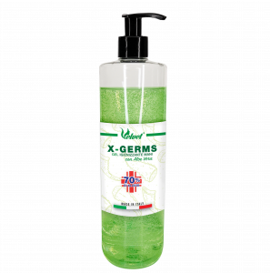 1 LITRO | Gel Igienizzante Mani con ALOE VERA e 70% Alcool Alcol | X-GERM