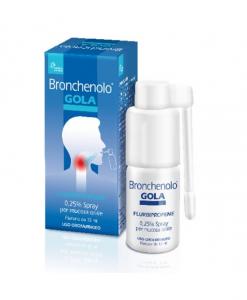 Bronchenolo Gola Spray Antinfiammatorio per Mal di Gola 15ml