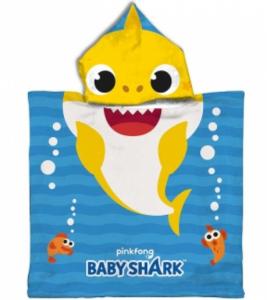 SUN CITY Poncho Baby Shark Dim 50x100 cm