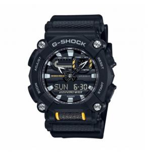 Casio G-Shock orologio digitale multifunzione, cassa nera, particolari gialli