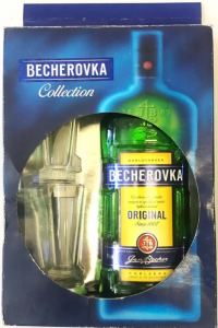 Liquore Becherovka Collection Confezione 1 Bott. CL.70 + 2 Bicch.