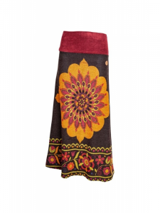 Gonna lunga stile etnico tribale misto lana | Gonne online