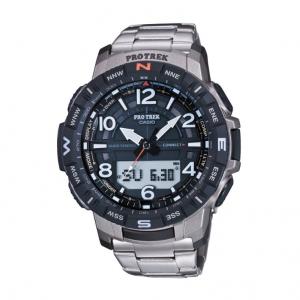 Casio Pro Trek orologio analogico - digitale uomo multifunzione bracciale titanio