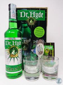 Assenzio Dr. Hyde Kit 1 Bottiglia CL.70 + 2 Bicchieri + 1 Cucchiaio