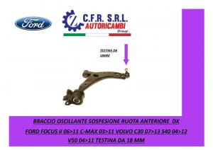 BRACCIO OSCILLANTE SOSPENSIONE RUOTA ANTERIORE  DX FORD FOCUS C-MAX 06-11 TEST