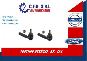 TESTINE SCATOLA GUIDA / STERZO FORD FOCUS II FORD C MAX 2004> VOLVO S 40 2004>DX