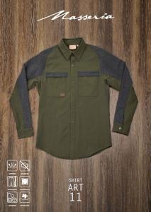 Camicia elasticizzata con rinforzi