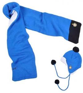 Set sciarpa e cappello bimbo Accessori squadre calcio Inter