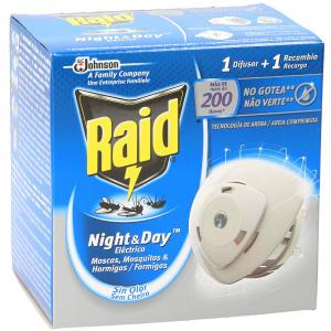 RAID Night&Day 1 Diffusore + 1 Ricarica 200 ore