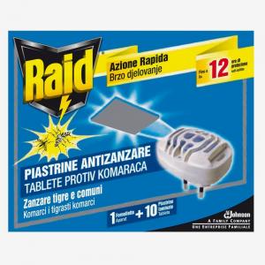 RAID Antizanzare 1 Fornelletto+10 Piastrine