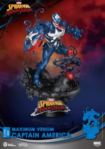 D-Stage Maximum Venon Statua: CAPTAIN AMERICA by Beast Kingdom