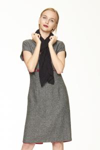 Caldo Ponchetto nero | Abbigliamento etnico invernale donna