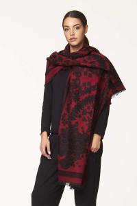 Scialle double face bicolore  | Accessori moda donna online