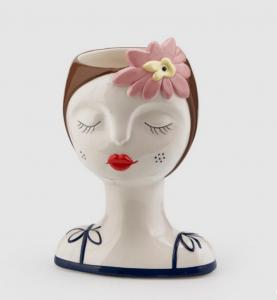 SALLY Vaso ceramica viso donna
