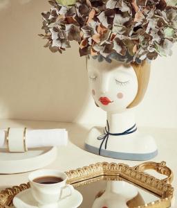 Vaso Bèlle ceramica busto donna