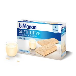 Bimanán Barrette Sostitutive Allo Yogurt 8 Unità