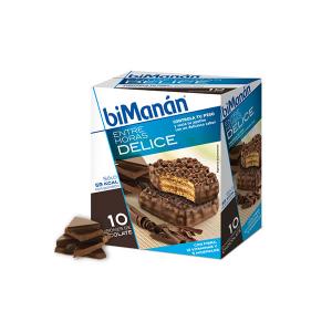 Bimanán Snack Sostitutivo Croccante Al Cioccolato 10 Unità