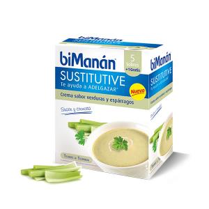 Bimanán Crema Sostitutiva Con Verdure E Asparagi 5x1 Unità 330g