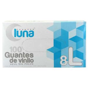 Guantes Luna Vinyl Gloves Size L 100 Unità
