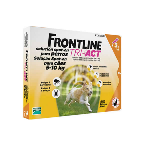 Frontline Tri-Act 5-10kg 3 Pipette x1ml